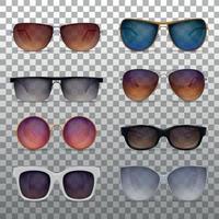 Realistic Sunglasses Set Vector Illustration