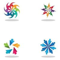 Community Logo Teamwork Logo Group Logo Vector Icon