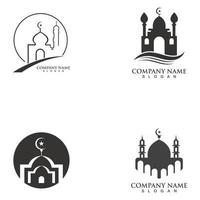 mosque logo and symbol vector icon template
