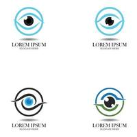 Set  Eye care logo and symbols template vector icons app