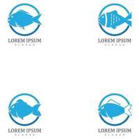 plantilla de logotipo de pescado. símbolo de vector creativo