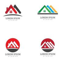 Real estate and home buildings logo icons template vector