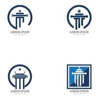 Set of Column Logo and symbol Template vector illustration design