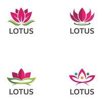 LOTUS Flower Creative Logo Or Symbol Template Icon Design vector
