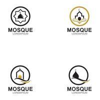 Modern mosque logo symbol or icon template vector