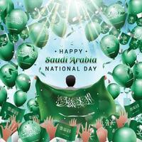 Happy Saudi Arabia National Day Party Concept vector