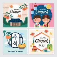 Happy Chuseok Greeting Card vector
