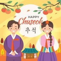 Happy Chuseok Celebration vector