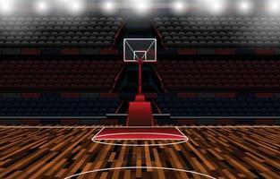 concepto de estadio de baloncesto vector