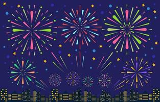 Fireworks Festivity Party Concept vector