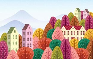 Autumn Season Scenery vector