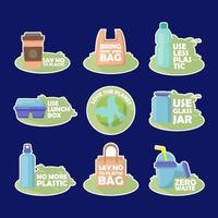 No Plastic Campaign vector