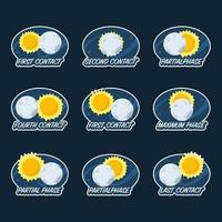 Solar Eclipse Phenomenon vector