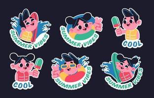 Swimming In Summertime vector