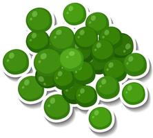 Many green spheres on white background vector