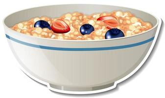 A bowl of cereal sticker on white background vector
