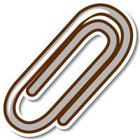 Paper clip sticker on white background vector