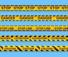 Restrictive stop marking tape pattern line to fence vector