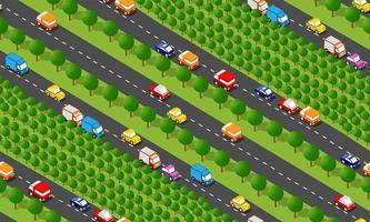 Seamless city map pattern. Isometric structure vector