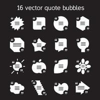conjunto de burbujas de texto de cita cuadrada vector