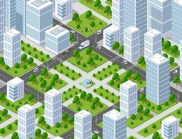Urban plan pattern map. Isometric landscape structure of city vector