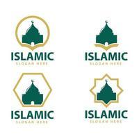 Islamic logo design vector, template icon illustration. vector