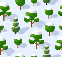 The seamless pattern is the background of the isometric vector