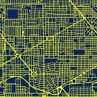 The night, neon, purple map of the city is a seamless vector