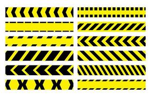 Restrictive stop marking tape pattern seamless line vector