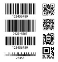 Set of abstract barcode bar code templates vector