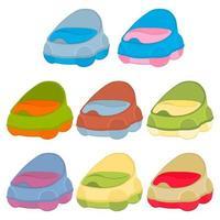 ilustración en kit temático maceteros de plástico para bebés con asa cómoda vector