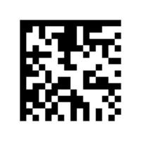 Abstract digital code scanner barcode template for social media vector