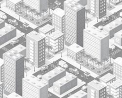 Isometric city map industry infographic set, with transport vector