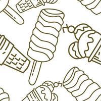 Ice Cream Pattern Seamless Vector Template