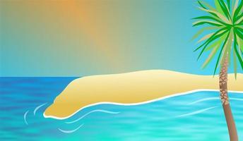 telón de fondo de la playa de la isla tropical vector