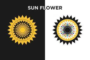 Sun flower logo free vector