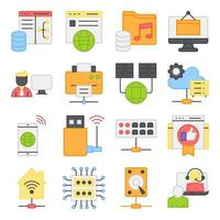 Pack of Smart Home Flat Icons vector