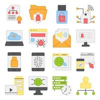 Pack of Hierarchy Flat Icons vector