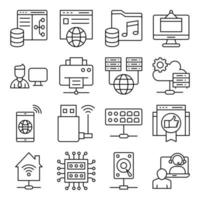 Pack of Smart Home Linear Icons vector