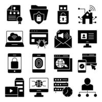Pack of Hierarchy Glyph Icons vector