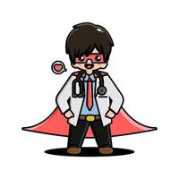 Cute doctor mascot character vector
