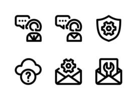 Simple Set of Help and Support Related Vector Line Icons. Contains Icons as Customer Support, Cloud Computing, Mail Setting and more.