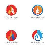 fire logo modern simple gradient. flame logo clean simple. vector