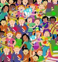 Crowd of Activity Kids vector