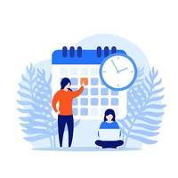 set a deadline, time management concept vector