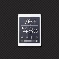 Temperature and humidity monitor, vector