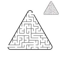 abstract labyrinth. game for children and adults. vector illustration