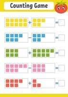 Worksheet Game for preschool children. vector
