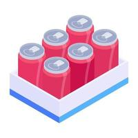 Tins Crate Tray vector