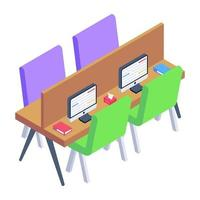 Workspace and Office  Cabin vector